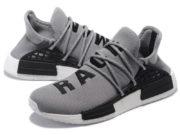 Кроссовки Adidas NMD Human Race мужские серые с черным - фото слева