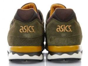 Кроссовки Asics Gel Lyte 5 мужские болотные с темно-коричневым - фото сзади
