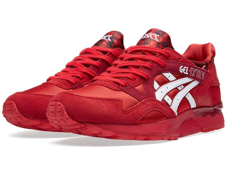 Кроссовки Asics Gel Lyte 5 красные с белым мужские
