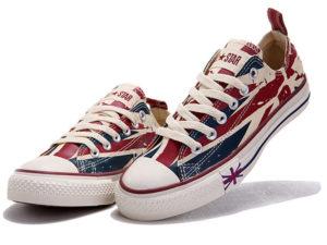 Кеды Converse Chuck Taylor All Star с британским флагом - фото спереди