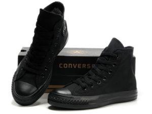 Высокие кеды Converse Chuck Taylor All Star черные - общее фото