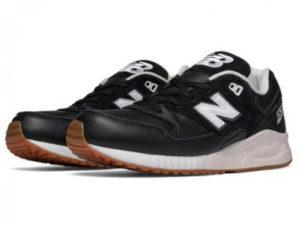 Кроссовки New Balance 530 мужские черные с белым - фото слева