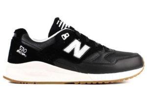 Кроссовки New Balance 530 мужские черные с белым - фото справа