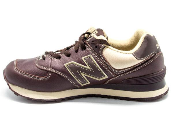 Кроссовки New Balance 574 мужские темно-коричневые