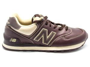 Кроссовки New Balance 574 мужские темно-коричневые - фото справа