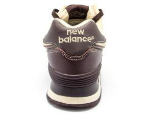 Кроссовки New Balance 574 мужские темно-коричневые - фото сзади