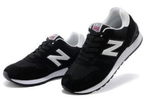Кроссовки New Balance 670 черные с белым - фото слева