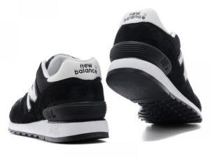 Кроссовки New Balance 670 черные с белым - фото сзади