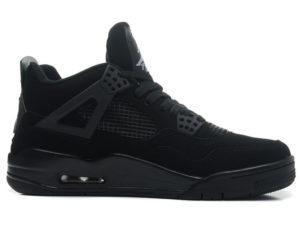 Кроссовки Nike Air Jordan 4 Retro черные - фото справа