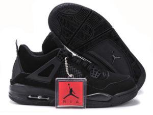 Кроссовки Nike Air Jordan 4 Retro черные - общее фото