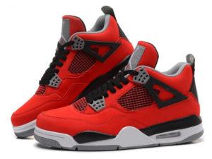 Кроссовки Nike Air Jordan 4 Retro мужские красные - фото слева
