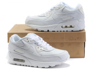 Кроссовки Nike Air Max 90 белые - общее фото