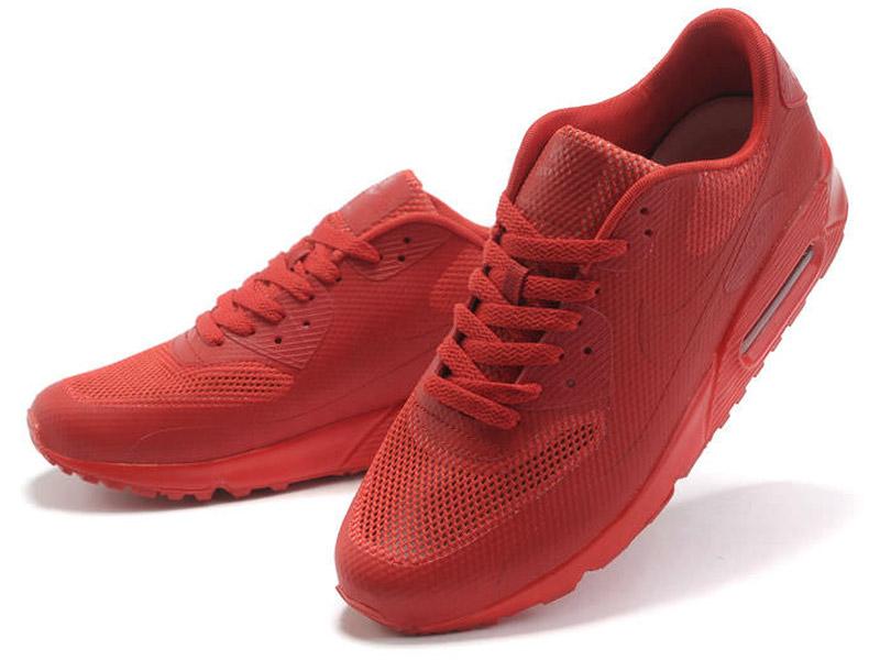 Кроссовки Nike Air Max 90 Hyperfuse мужские красные