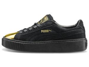 Кроссовки Puma by Rihanna Creeper женские черные с золотым - фото слева