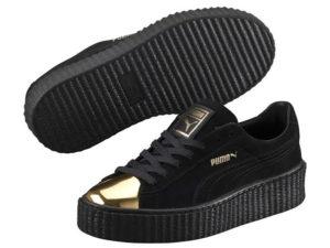 Кроссовки Puma by Rihanna Creeper женские черные с золотым - общее фото