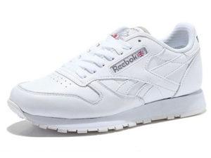 Кроссовки Reebok Classic белые - фото спереди