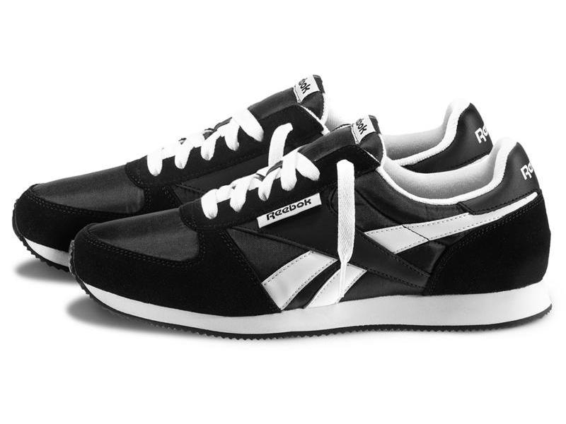 Кроссовки Reebok Classic мужские черные с белым