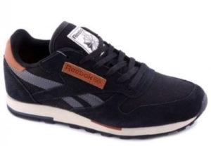 Кроссовки Reebok Classic мужские черные с серым - фото справа
