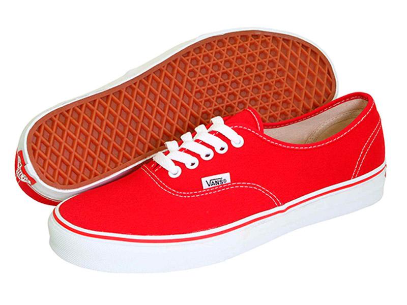 Кеды Vans Authentic женские красные
