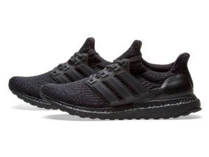 Кроссовки Adidas Ultra Boost мужские черные - фото слева