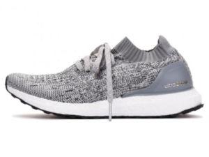 Кроссовки Adidas Ultra Boost мужские серые с белым - фото слева