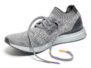 Кроссовки Adidas Ultra Boost мужские серые с белым - фото спереди