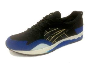 Кроссовки Asics Gel Lyte 5 мужские черные с синим - фото спереди