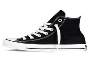 Высокие кеды Converse Chuck Taylor All Star черные с белым - фото слева