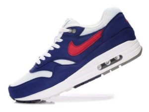 Кроссовки Nike Air Max 87 бело-синие с красным мужские - фото слева