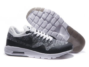 Кроссовки Nike Air Max 87 белые с черным мужские - общее фото