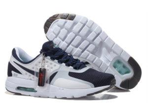 Кроссовки Nike Air Max 87 белые с темно-синим мужские - общее фото