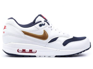 Кроссовки Nike Air Max 87 белые с золотым женские - фото справа