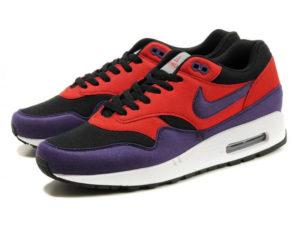 Кроссовки Nike Air Max 87 красно-фиолетовые с черным женские - фото справа