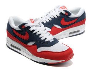 Кроссовки Nike Air Max 87 красно-синие с белым мужские - общее фото
