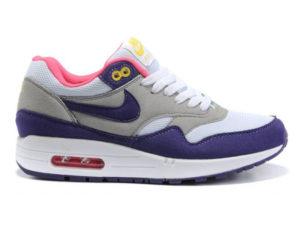 Кроссовки Nike Air Max 87 серо-фиолетовые женские - фото слева