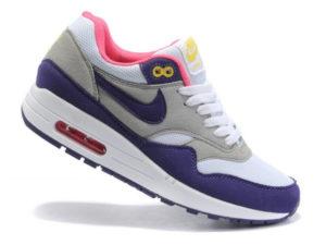 Кроссовки Nike Air Max 87 серо-фиолетовые женские - фото слева (другой ракурс)