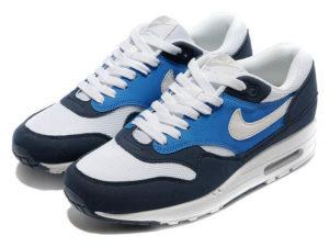 Кроссовки Nike Air Max 87 темно-синие с белым мужские - фото спереди