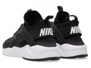 Кроссовки Nike Air Huarache Ultra черные с белым мужские - фото сзади