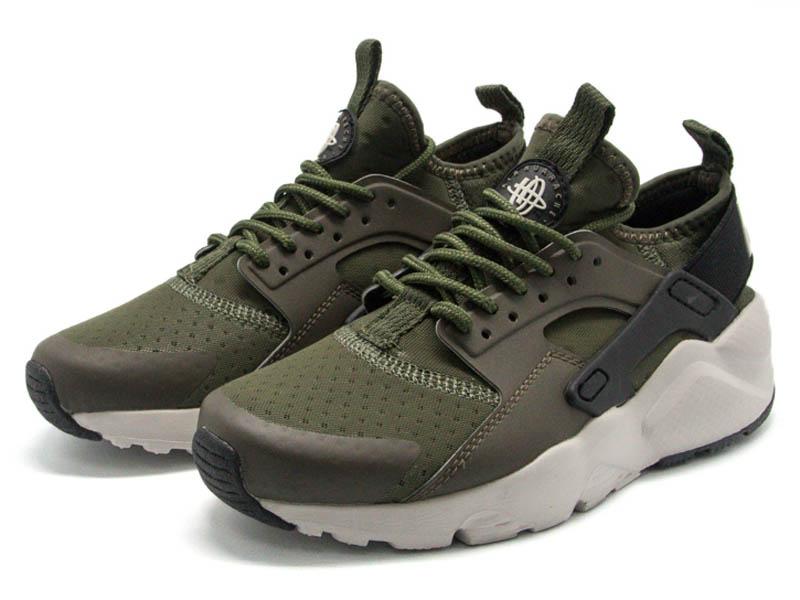 Кроссовки Nike Air Huarache Ultra темно-зеленые мужские