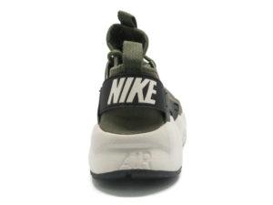 Кроссовки Nike Air Huarache Ultra темно-зеленые мужские - фото сзади