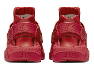 Кроссовки Nike Air Huarache Varsity красные мужские - фото сзади