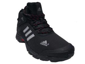 Зимние Adidas Climaproof Mid черные - фото спереди