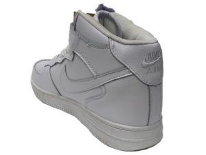 Зимние Nike Air Force 1 Low Leather Fur белые мужские и женские - фото сзади