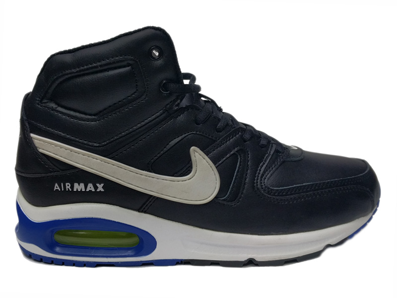 Nike Air Max 90 Skyline Mid на меху черные с бело синим (40 46)