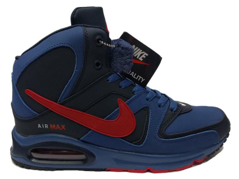 42273cd7 Купить Nike Air Max 90 Skyline Winter Blue Red зимние с мехом, синие ...