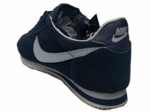 Зимние Nike Cortez темно-синие - фото сзади