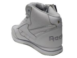 Зимние Reebok Classic Leather белые - фото сзади