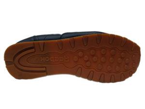 Зимние Reebok Classic Leather темно-синие с белым - фото подошвы