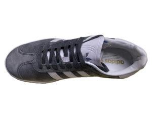 Adidas Gazelle Suede серые с белым - фото сверху