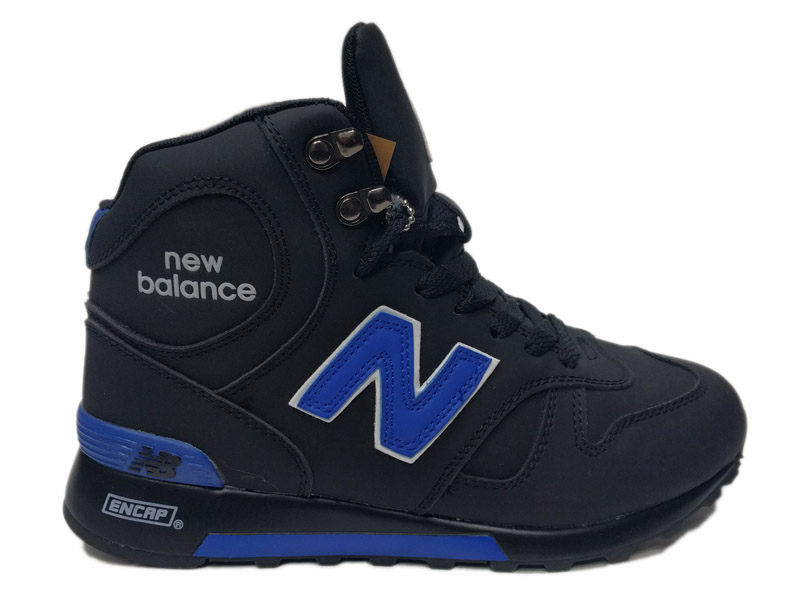 Зимние New Balance 1300 Mid черные с синим